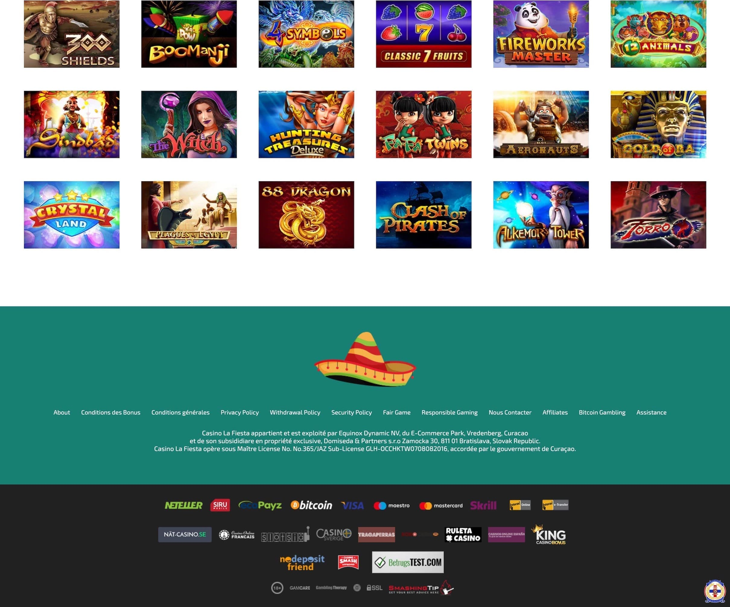 fiesta casino avis officiel